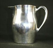 Epca Bristol Silverplate By Poole 854 Vintage Pitcher Carafe Jug 7.25 Inch Tall