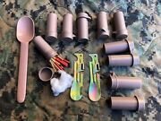 10 Army Matches 2 Can Opener Survival Multicam Edc Tin Sas Ration Spoon Mre Fred