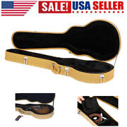 Glarry Electric Guitar Case For Lp Les Paul Type Wooden Hard Shell Lockable Us