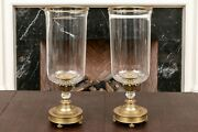 Pair Of French Neo Classic Brass Hurricane Lamp Made By Decorative Craftsandnbsp 5546