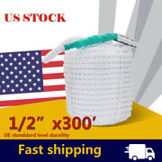 1/2x300ft Twisted Three Strand Anchor Docking Line Rope Boat Cord With Thimble