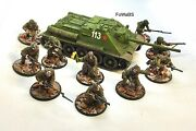 28mm Bolt Action Soviet / Russian Infantry And Su85 Assault Gun Painted By Fowabs