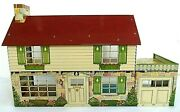Vintage Louis Marx Pressed Steel Litho Dollhouse Mar Made In The Usa 1950's