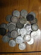 Mixed Date Roll Of 42 Canada Silver Quarters, Mostly From 1940's