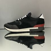 595 Menandrsquos Givenchy Active Runner Sneakers Suede Black Blue Red Sz 8.5