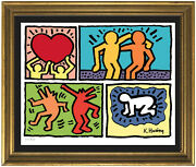Keith Haring Andldquopop Shop Quadandrdquo Signed And Hand-numbered Ltd Ed Print Unframed