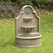 Glitzhome 37h Oversized Antique European 3-tier Led Outdoor Water Fountain Yard