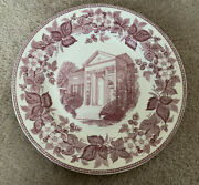 Wedgwood Womanandrsquos College Alumnae House North Carolina Pink Dinner Plate