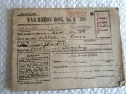 Vintage 1943 Wwii World War 2 War Ration Book No. 3 With Some Stamps - E8e-4