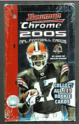 2005 Bowman Chrome Football Factory Sealed Hobby Box Possible Rodgers Auto Rc