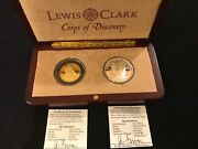 Gold And Silver Coin Set Lewis And Clark Shawnee Nation Issue Rare