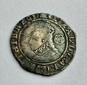 Elizabeth I Sixpence, Sixth Issue, 1594, Mintmark Woolpack, Hammered Silver