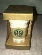 New Starbucks 2008 Christmas Ornament Ceramic Tumbler Collectible Coffee Gift