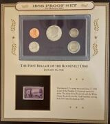 Hard To Find 1986-1987-1988 Proof Set With Stamp And History