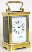 Antique Miniature 8 Day Carriage Clock By Walters And George Regent Street Rare