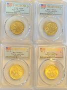 2021 Native American Dollar Ms66 4 Coin Set Pa Pb Da Db Pcgs First Strike