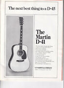 1972 Martin D-41 Guitar Page Ad