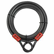 Bv 30ft Security Steel Cable With Loops Flex Cable Lock Cable 3/8 Inch For U-...