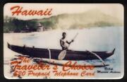 20. Hawaii 'traveler's Choice' Outrigger Boat Thin Font Reverse Phone Card