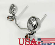 Led Auxiliary Lamp Kit Fog Lamp Kit Suitable For Harley Heritage Fat Boy 07-17