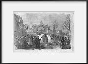 Vintage 1865 Photograph Funeral Service Of President Lincoln At Chicago, Illino