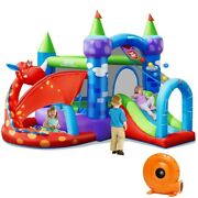 Kids Inflatable Bouncy Castle House Jumping Slide Outdoor Play Center Fun Blower
