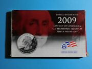 2009 Us Mint Dc And Us Territories Silver Proof Quarter Set