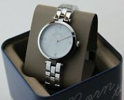 New Authentic Fossil Jacqueline Silver Crystals Womenand039s Bq7020 Ladies Watch