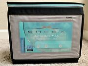 Brand New Sheex Artic Aire Max Performance Sheet Set In King Silver Color