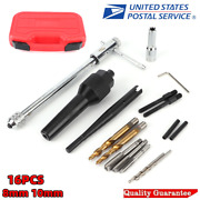 16pcs Damaged 0.3 0.4 Glow Plug Remover Removal Tool Kit For Cylinder Heads