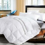 Quillts White Duck Down Comforter Duvet Blanket 100 Cotton Shell Top Quality