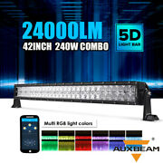 Auxbeam 42and039and039inch 240w Led Work Light Bar Combo Offroad Pickup Rgb Multi-color