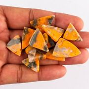 16mm To 20mm Bumble Bee Jasper Loose Gemstones Triangle Cabochon Flat Back
