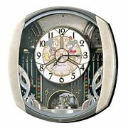 Seiko Wall Clock Disney 6 Songs Melody Mickey Mouse Minnie Mouse From Japan