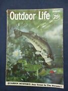 Vintage Men's Adventure Magazine Outdoor Life August 1952 Fish Jumps For Lure