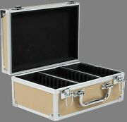 30 Certified Ngc/pcgs/elite Coin Slab Aluminum Tan Storage And Travel Box