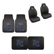 Kansas City Royals Car Truck Front Rear Heavy Duty Floor Mats Set And Seat Covers