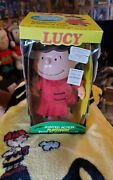 Vintage 1952 Peanuts Lucy Doll 7🔥🔥 Hard Plastic With Original Box And Clothes