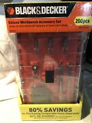 Black And Decker Deluxe Workbench Accessory Set 200 Pieces