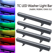 4pcs 200w Wall Washer Bar Light Rgbw Dmx512 4in1 Color Mixing Indoor Strip Light
