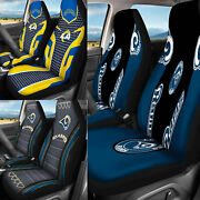 Los Angeles Rams 3d Auto Seat Covers Car Truck 2pc Front Seat Protector