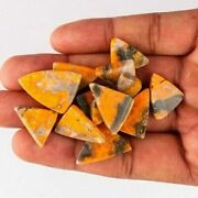 21mm To 25mm Bumble Bee Jasper Loose Gemstones Triangle Cabochon Flat Back