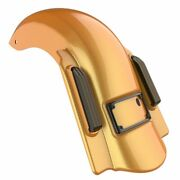 Hard Candy Gold Flake Dual Uncut Dominator Stretched Rear Fender For 14+ Harley