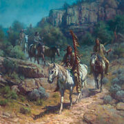 Comanche Moon - Martin Grelle - Indian Print - New And Never Framed