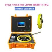 7 20m Waterproof Drain Pipe Inspection Cleaner Sewer Camera Dvr Video 8gb 512hz