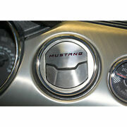 A/c Vent Trim Yellow C-fiber And039mustangand039 Inlay For 2015 Mustang 50th [brushed]