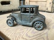 Vintage 1920andrsquos Arcade Cast Iron Model T Ford Coupe Toy Car Original Antique