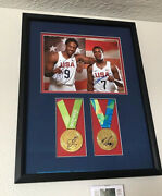 Demar Derozan Kyle Lowry Signed Usa Olympic Gold Medal Framed 11x14 Photo Proof
