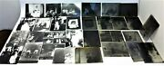 Lot Of Antique Old Family Portraits Glass Negatives With Photographs Photos