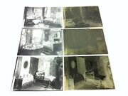 Lot Of Antique Old 1800s Interior Home House Glass Negatives With Photographs